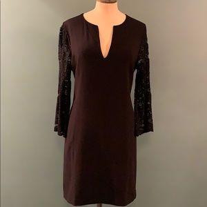 BCBGMAXARZIA Brigitte Lace-Sleeve Dress